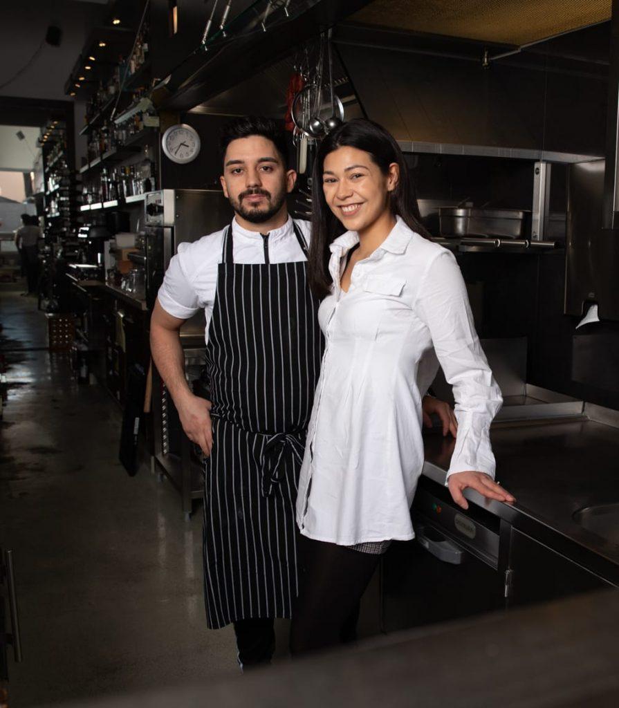 La Trinca Besitzer Cedric und seine Verlobte Sandy