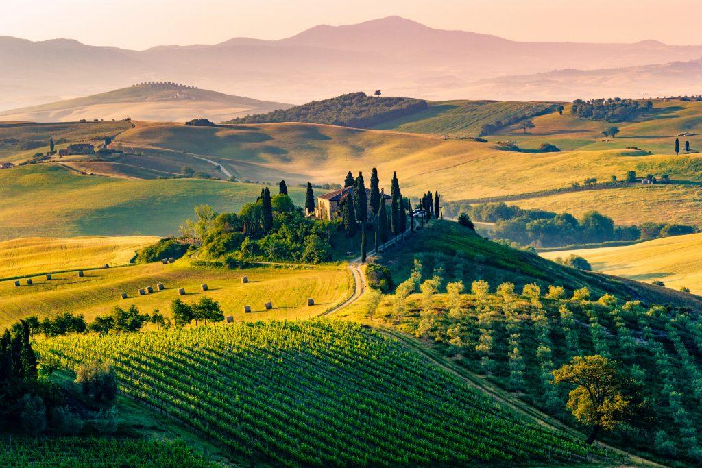 Aus der Toskana stammt der bekannteste Wein Italiens - der Chianti