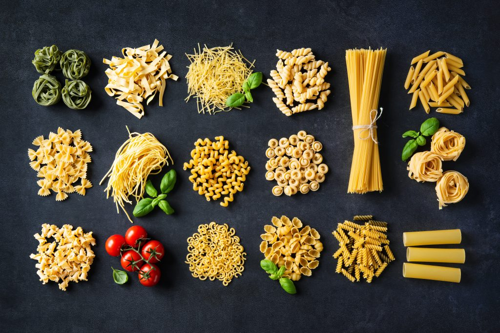 Es gibt über 400 verschiedene Nudelsorten